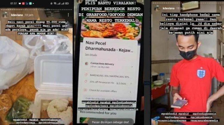Video Dugaan Penipuan Berkedok Resto Di Aplikasi Ojek Online Viral Di Media Sosial