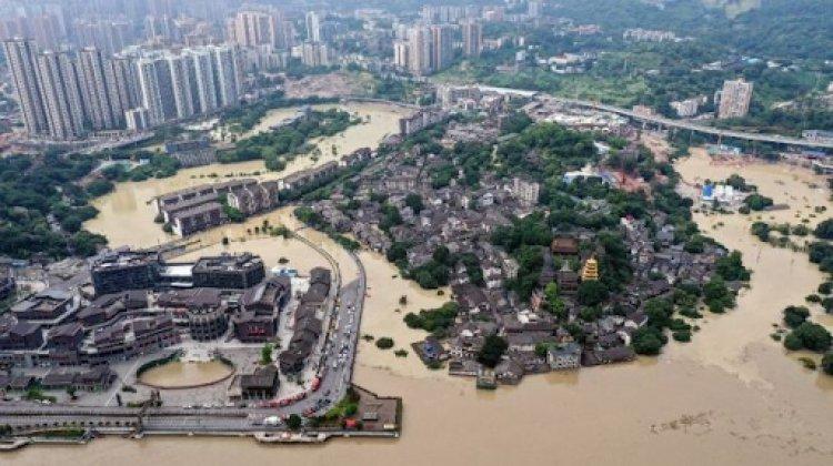 Hubei, China diterjang Banjir Besar, Ribuan Warga Mengungsi