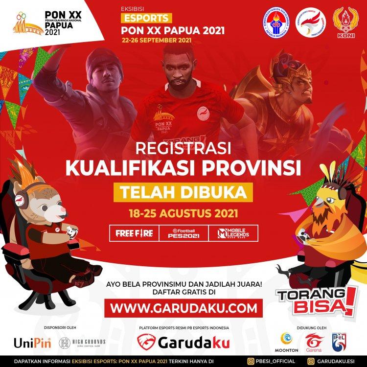 Begini Cara Daftar Esport Di PON XX Papua 2021. Untuk Game Free Fire, Mobile Legend Dan eFootball PES
